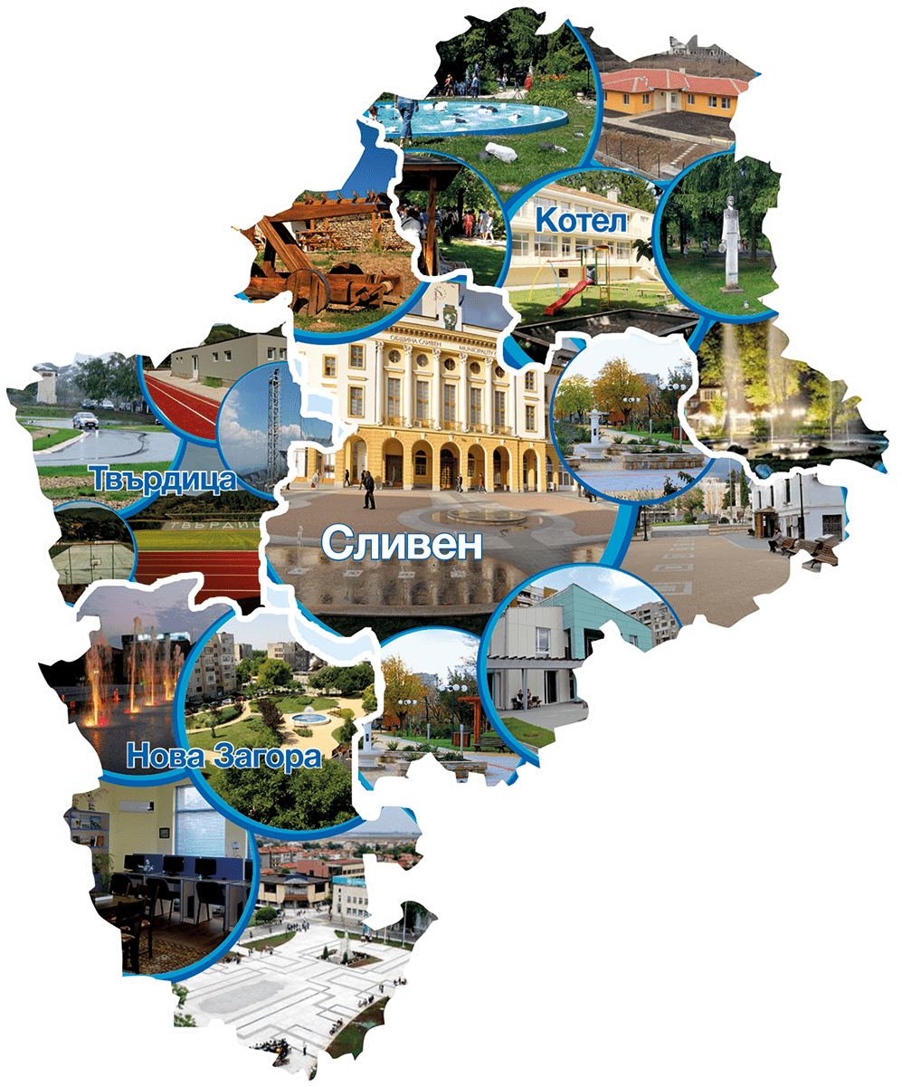 Карта област Сливен